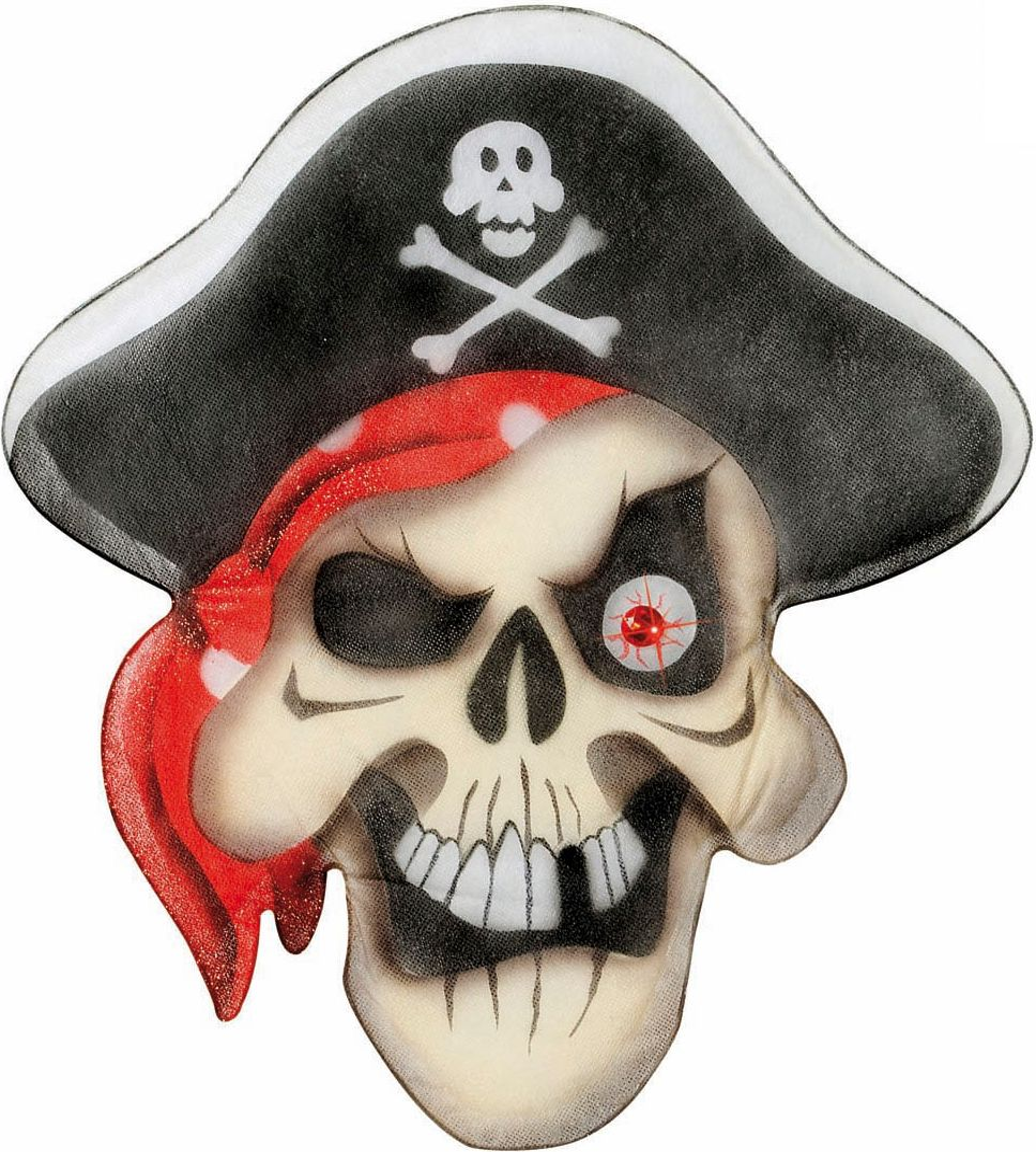 Piraten doodskop met edelstenen ogen