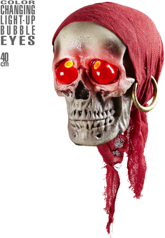 Piraten doodskop met oogverlichting