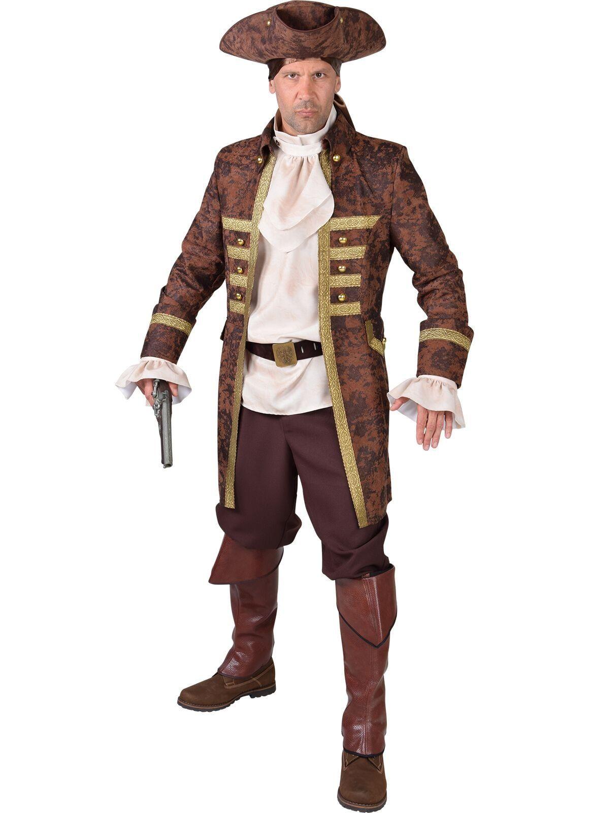 Piraten jas mannen bruin