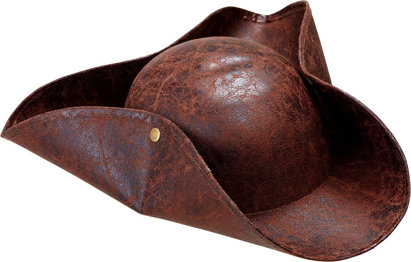 Piraten lederlook tricorn hoed