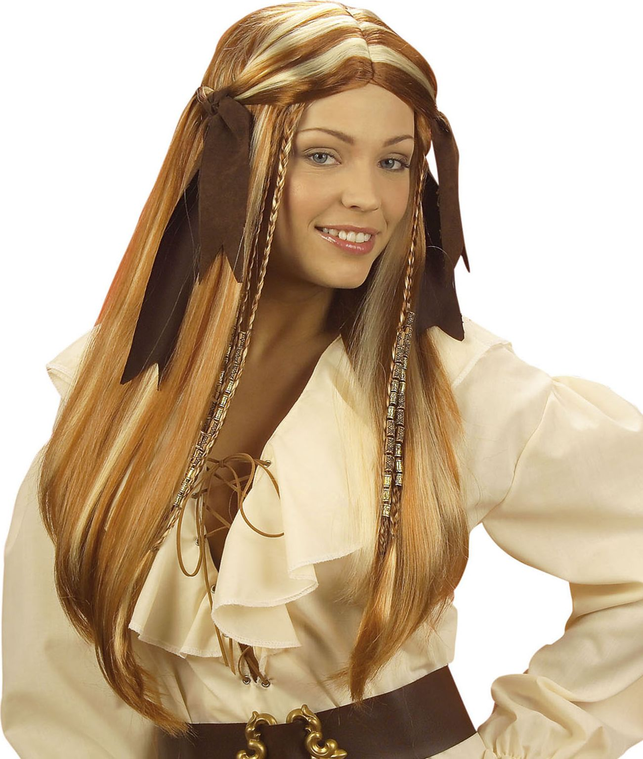 Piraten pruik dames