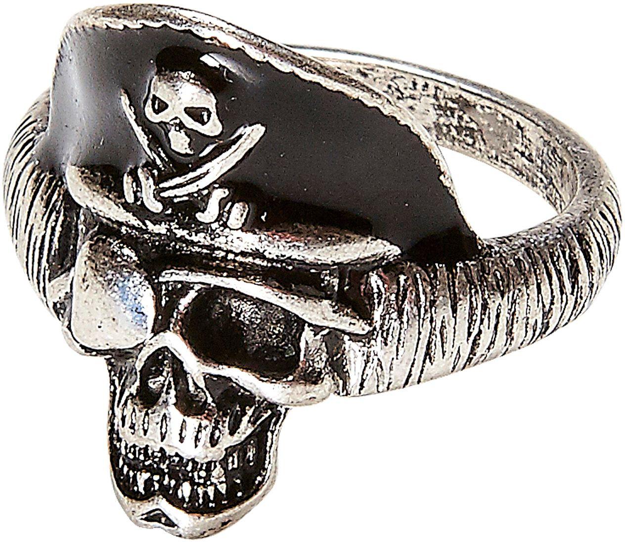 Piraten schedel ring
