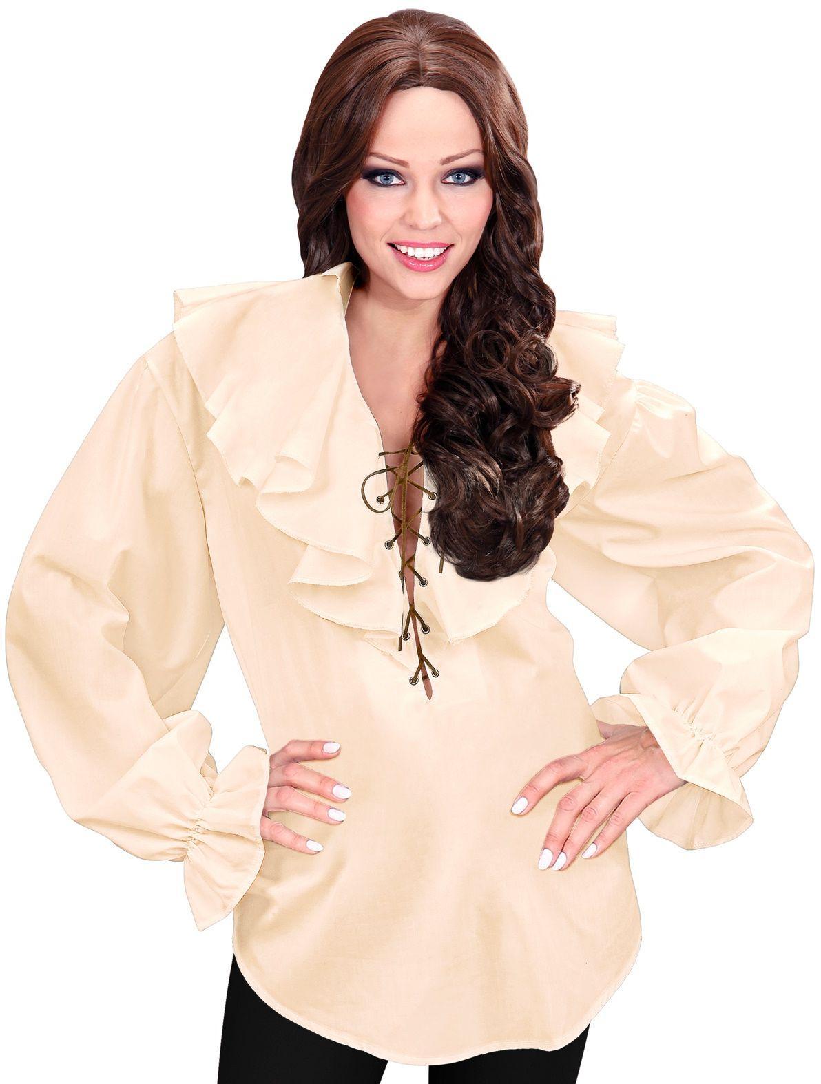 Piraten shirt beige dames