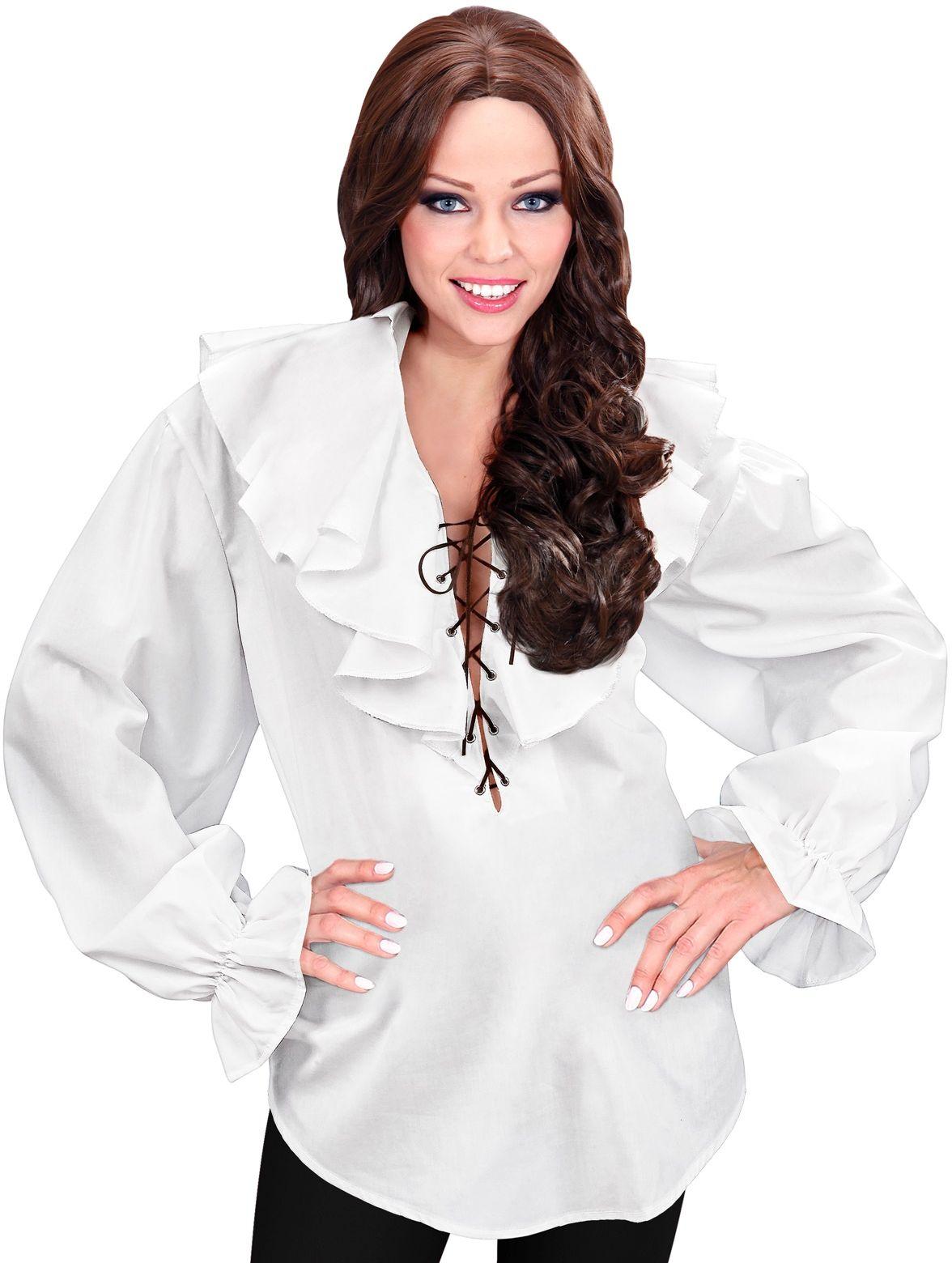 Piraten shirt wit dames