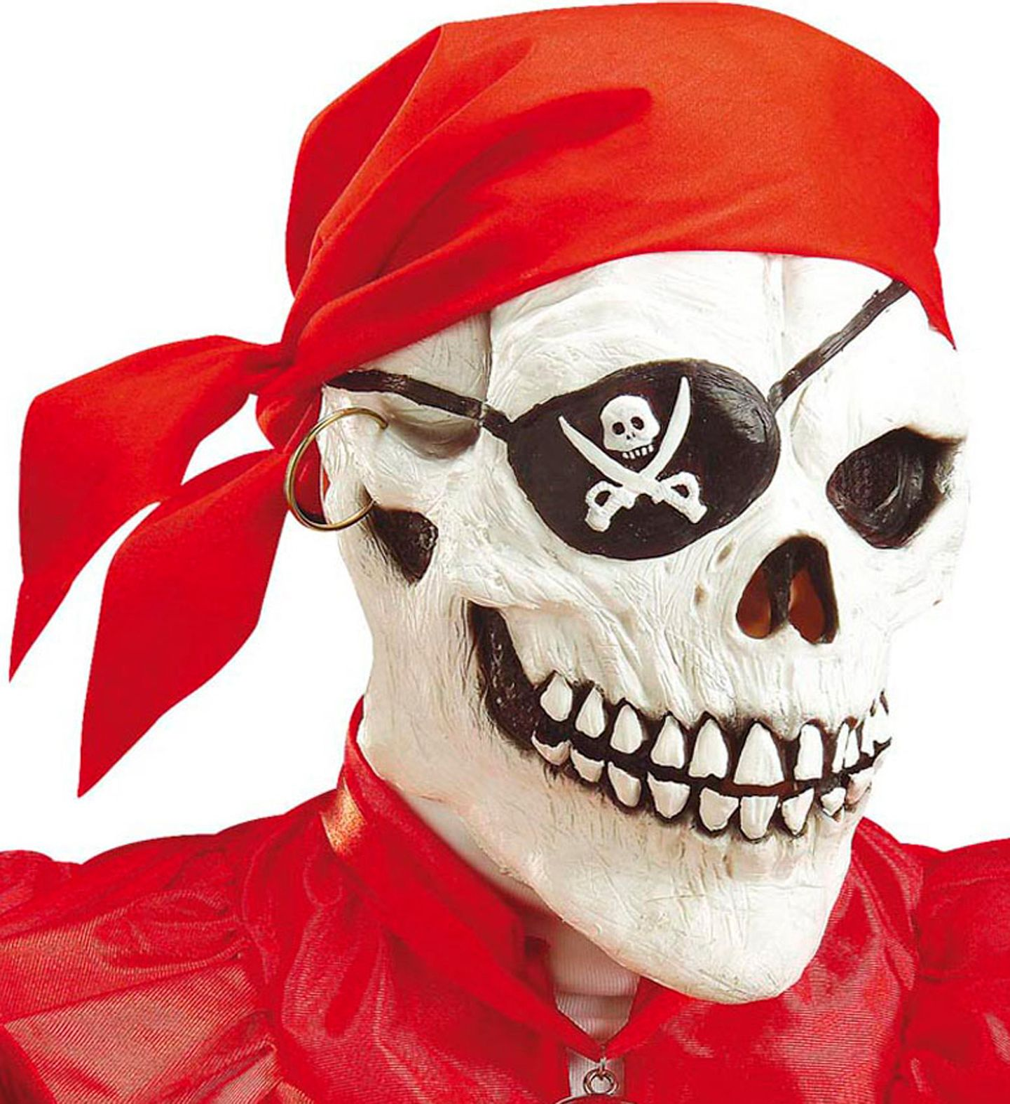 Piraten skelet masker met bandana