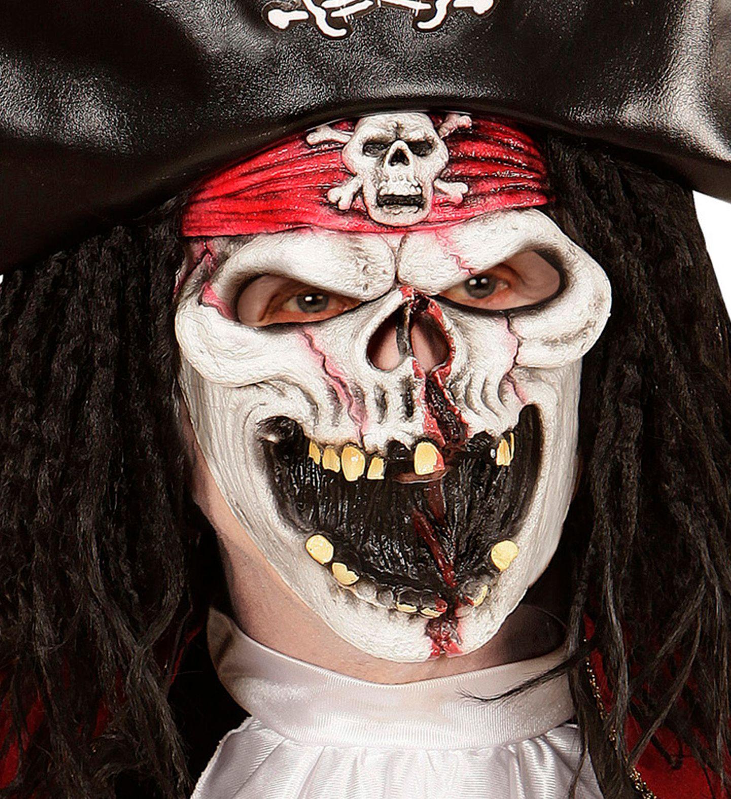 Piraten spook masker kind