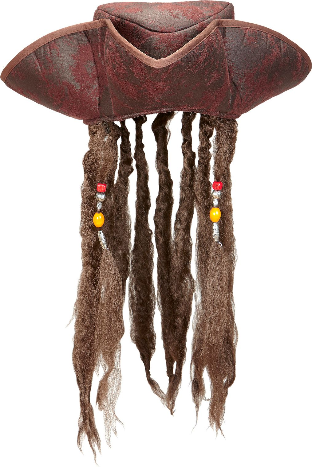 Piraten tricorn met dreadlocks