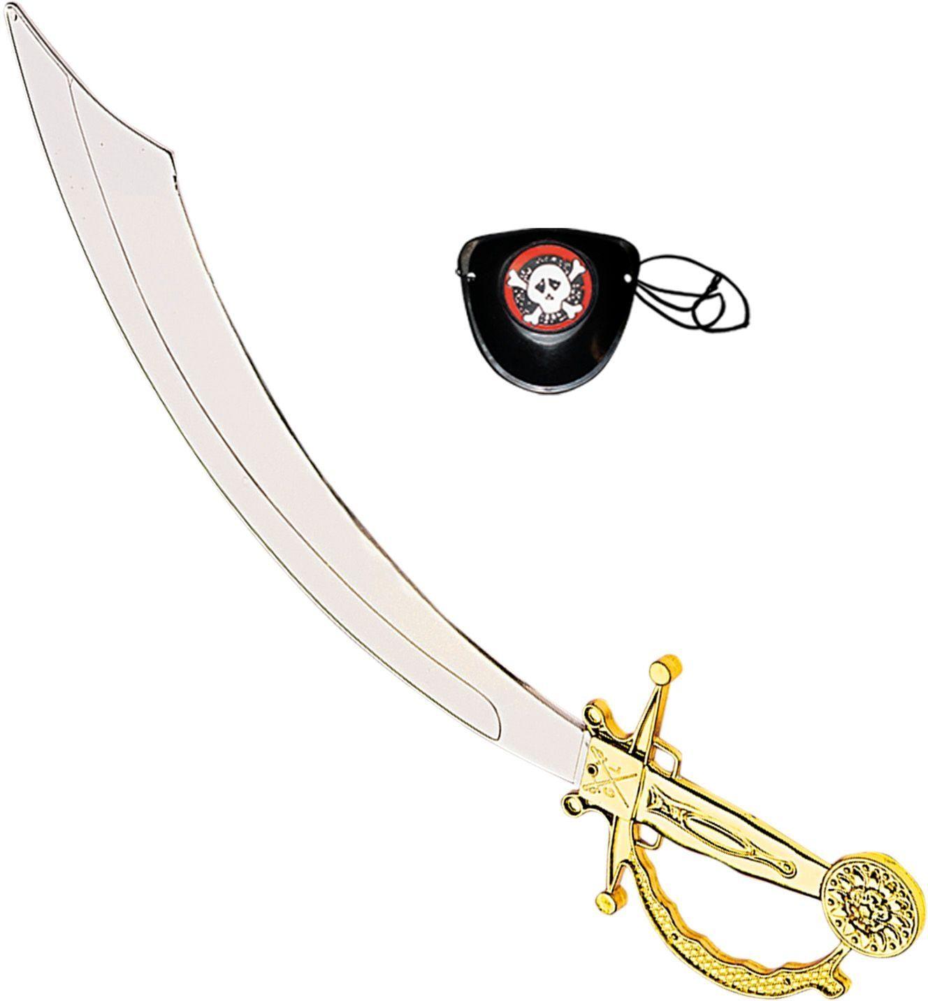 Piraten zwaard met ooglap