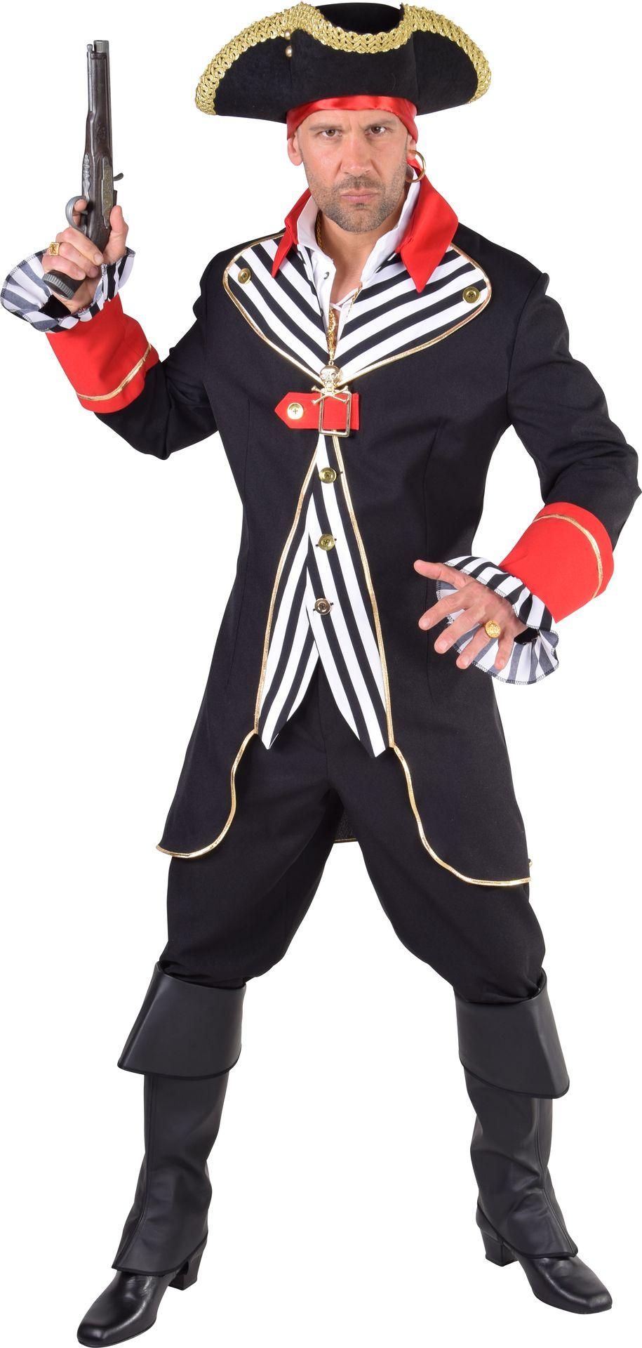 Piratenkapiteins jas zwart heren