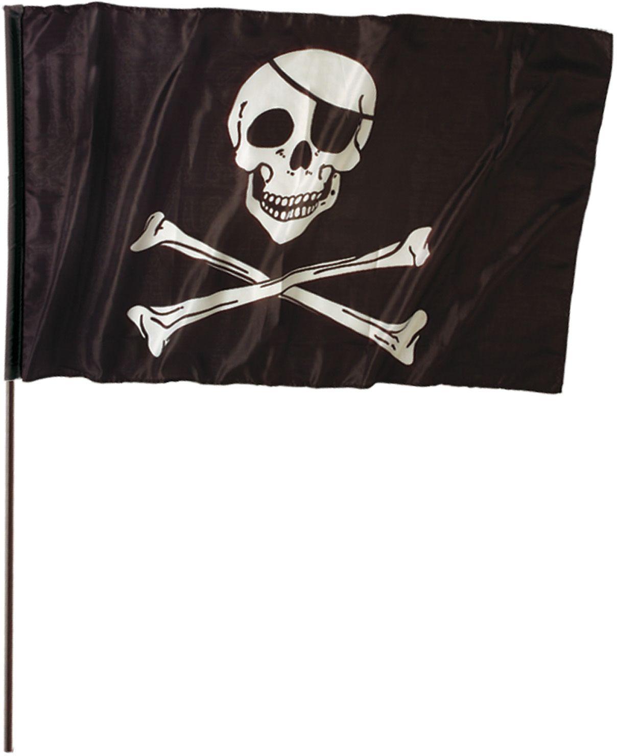 Piratenvlag met stok