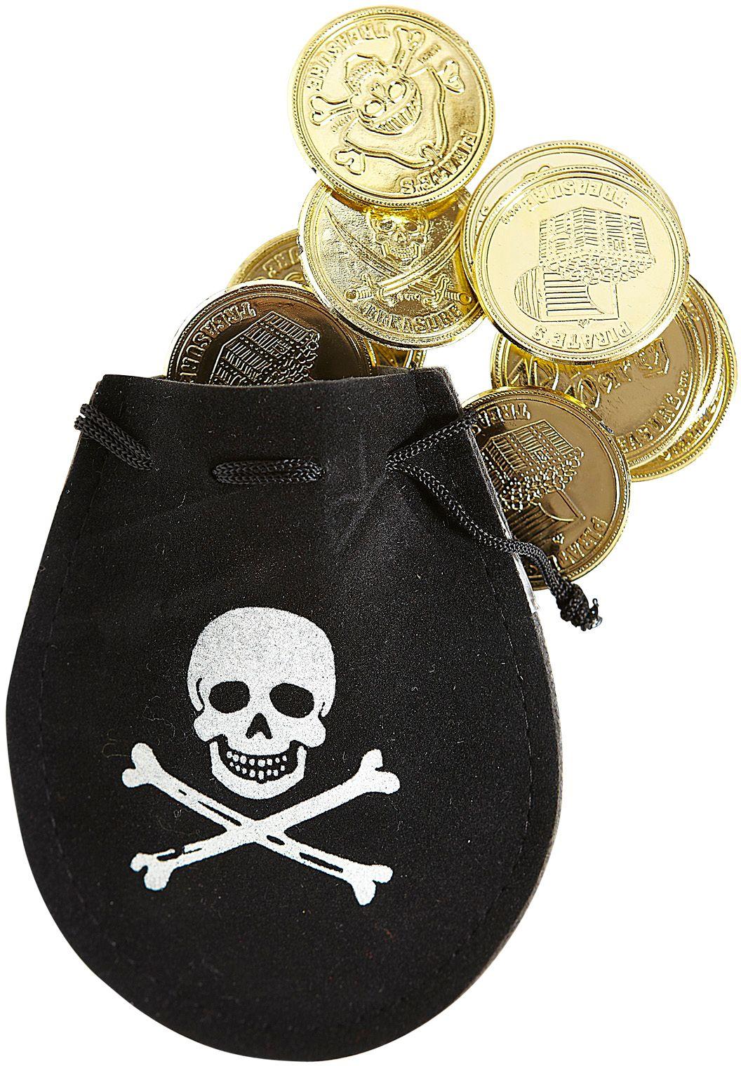 Piratenzakje met muntstukken