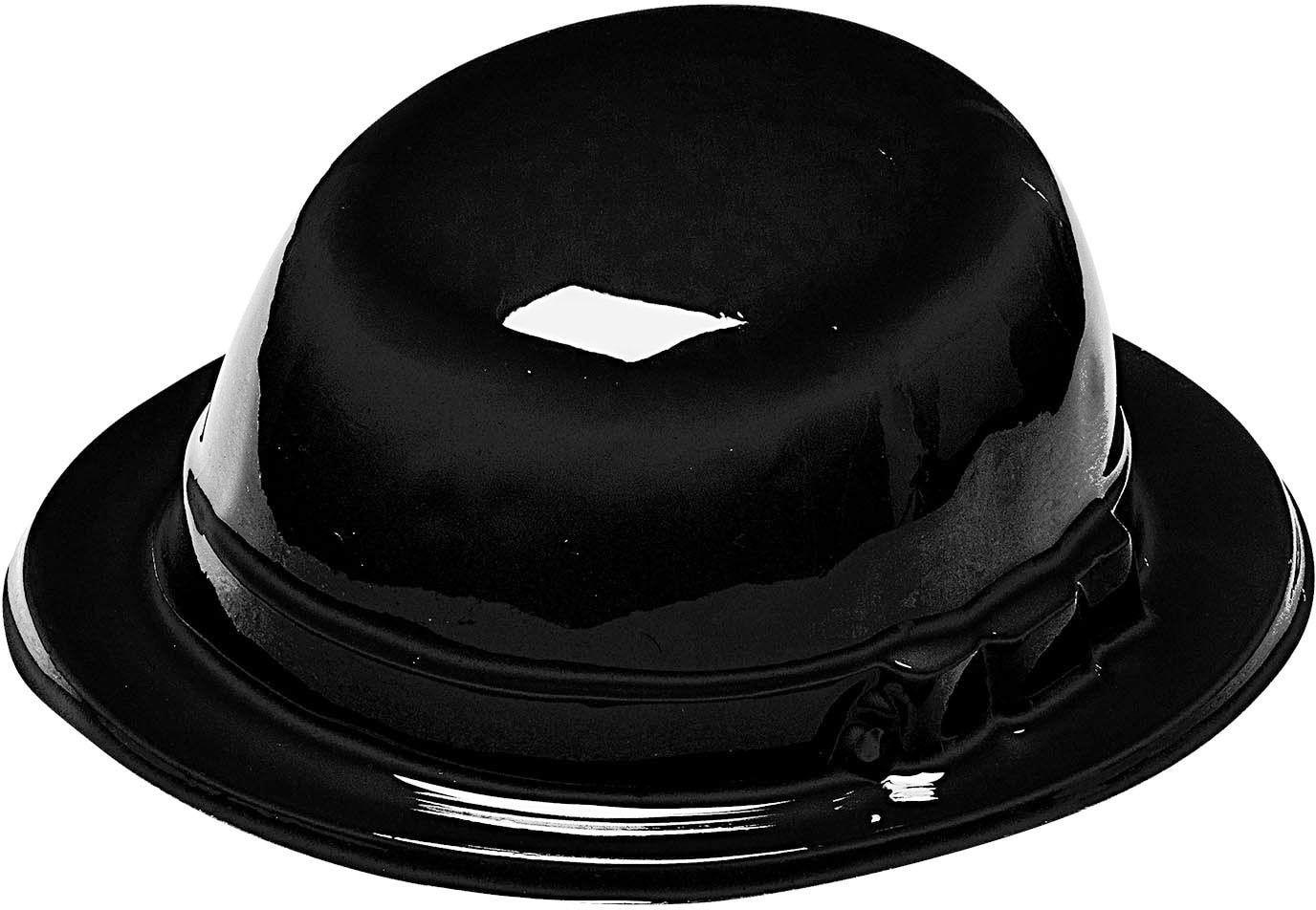 Plastic bolhoed zwart