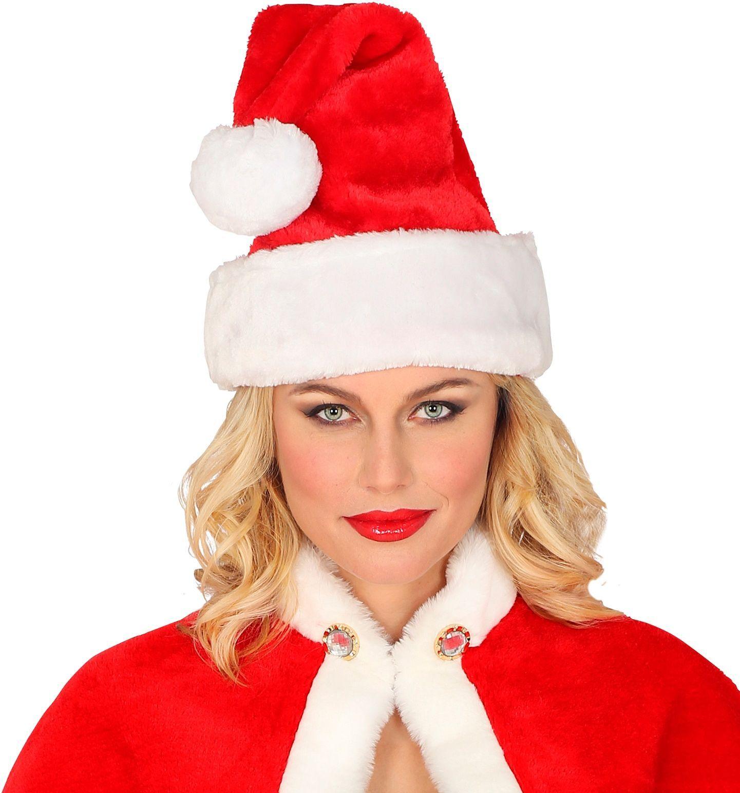 Pluche kerstmuts
