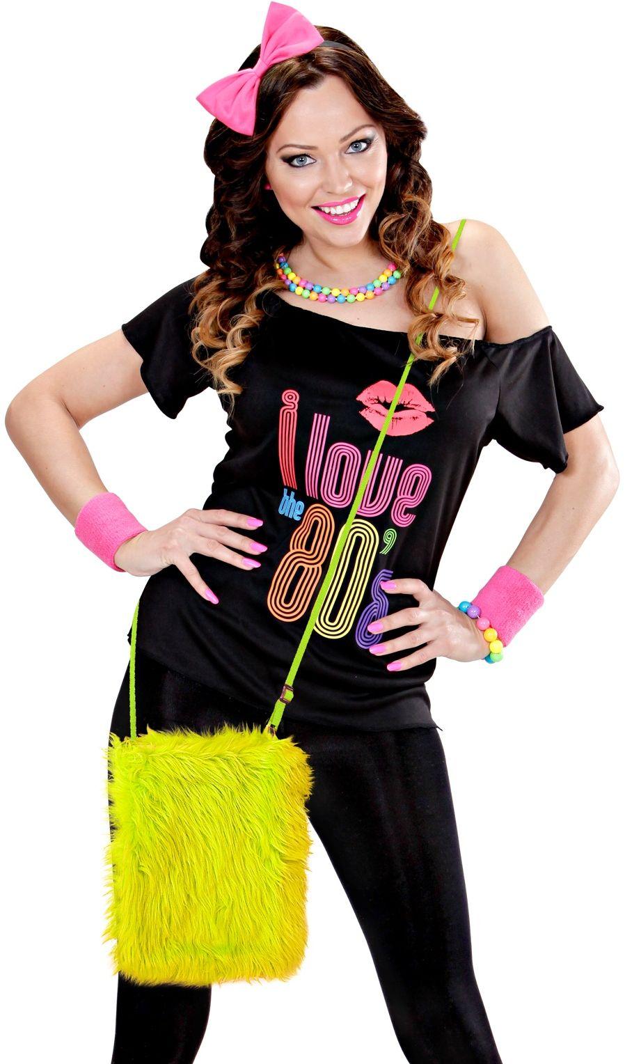 Pluche carnaval schoudertas geel