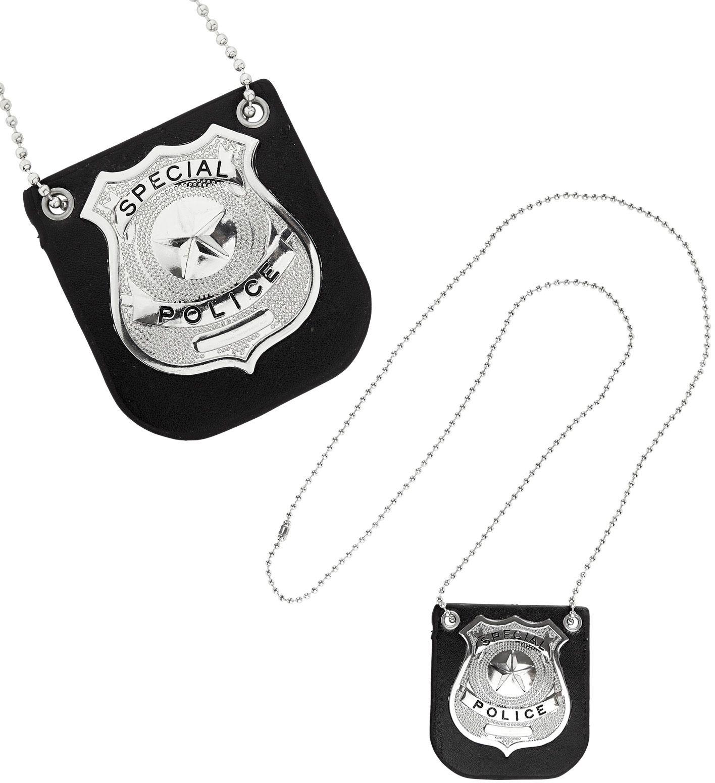 Politie badge ketting