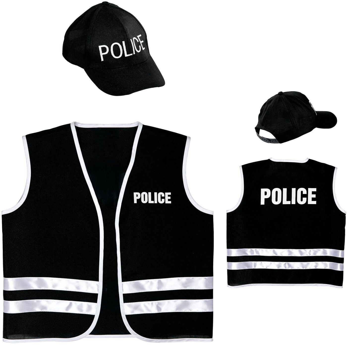 Politie pet met vest