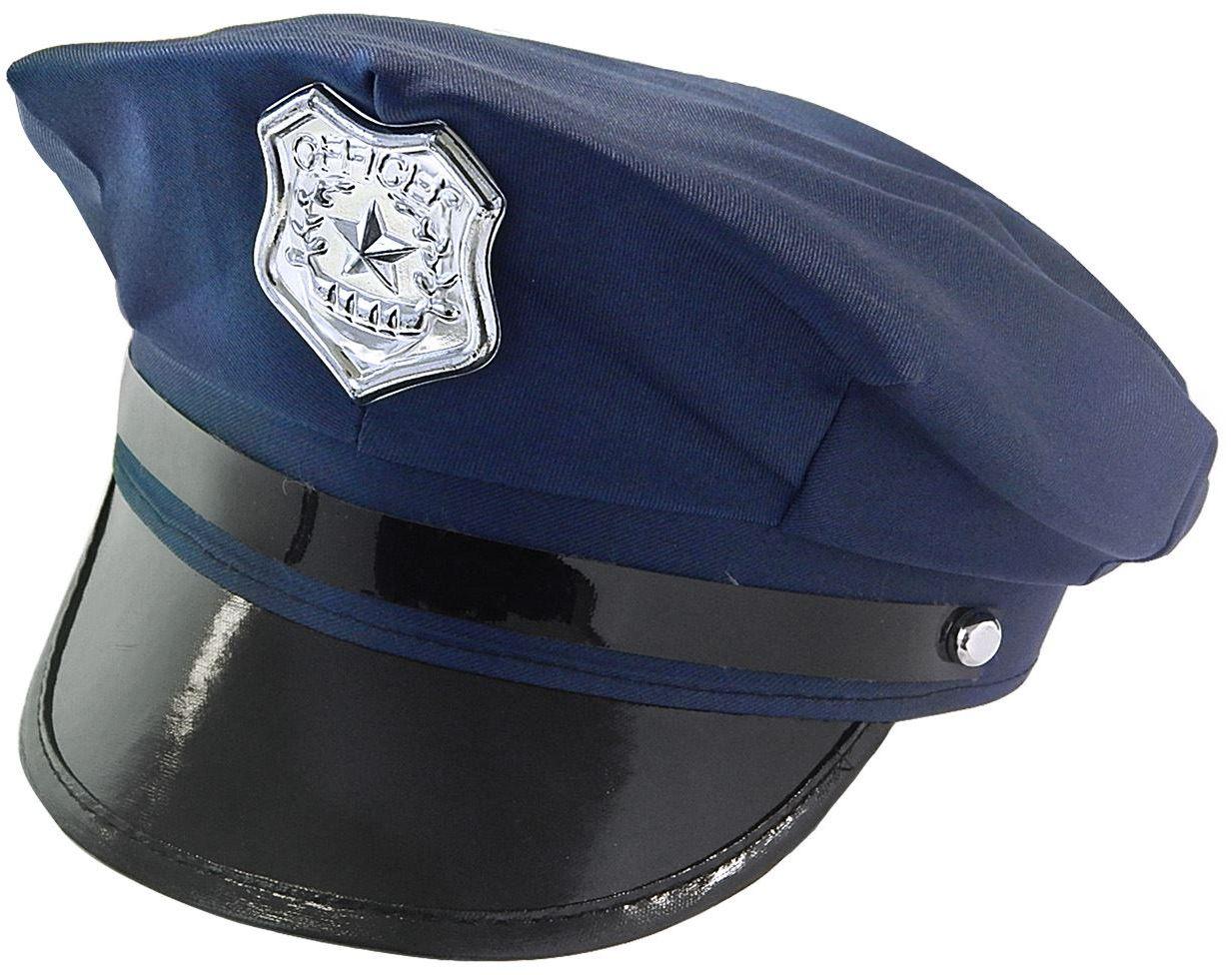 Politieman pet blauw