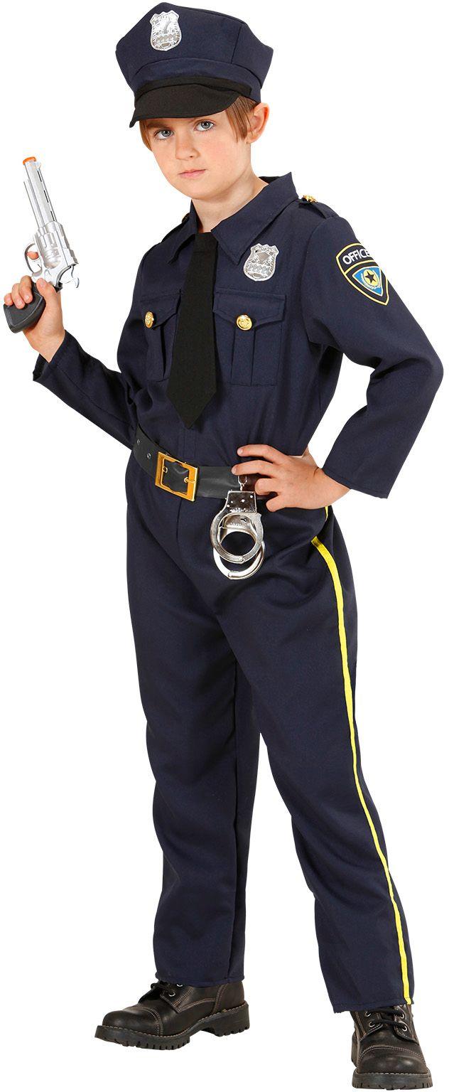 Politiepak kind blauw