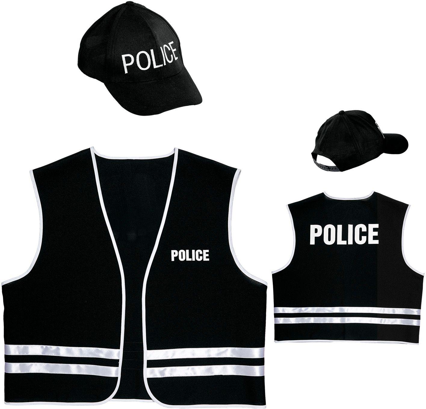 Politiepak vest met cap