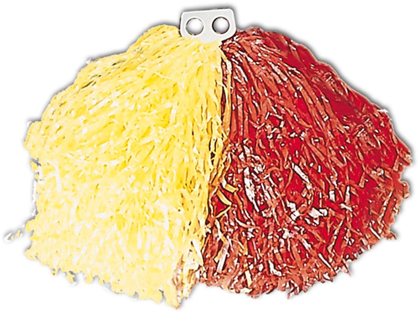 Pom Pom geel rood