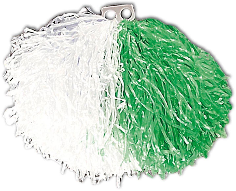 Pom Pom wit groen