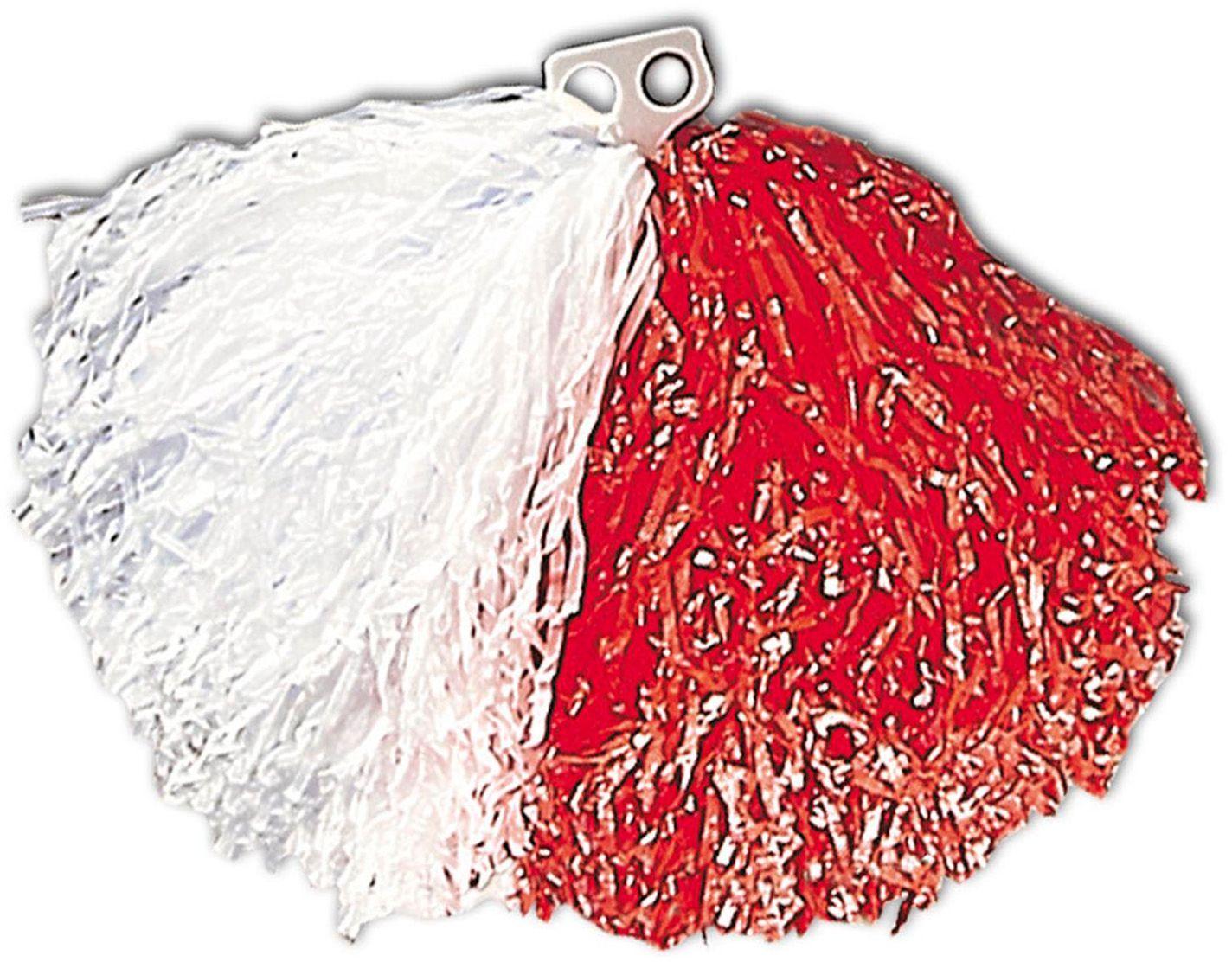 Pom Pom wit rood