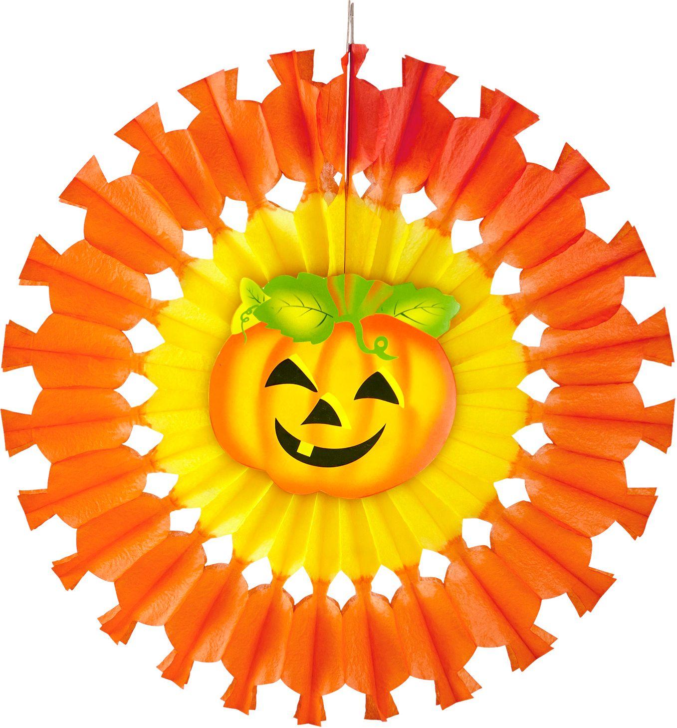 Pompoen waaier oranje