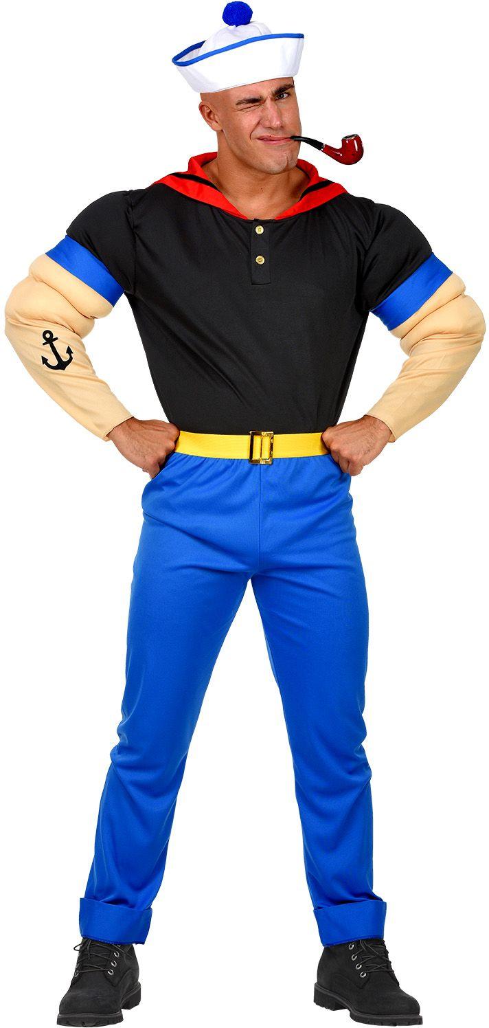 Popeye kostuum mannen