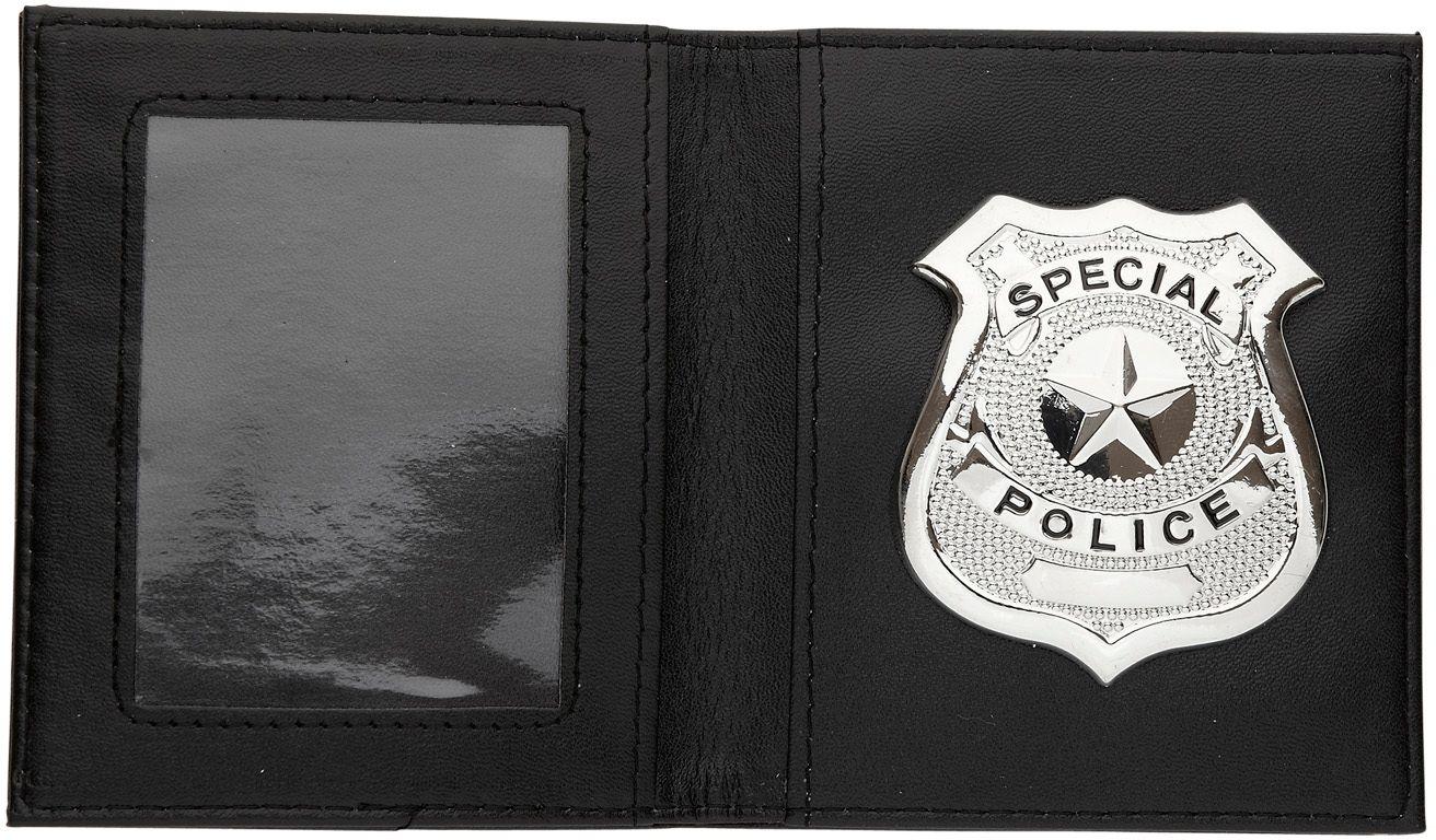 Portemonnee met politie badge