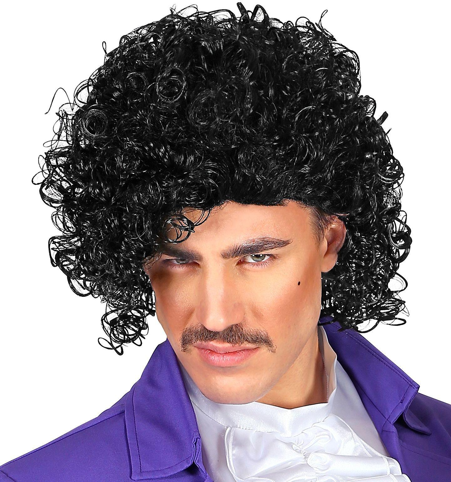 Prince pruik zwart
