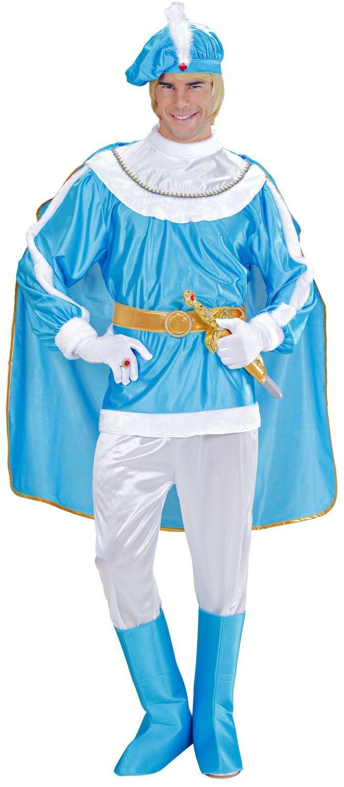 Prins kostuum blauw