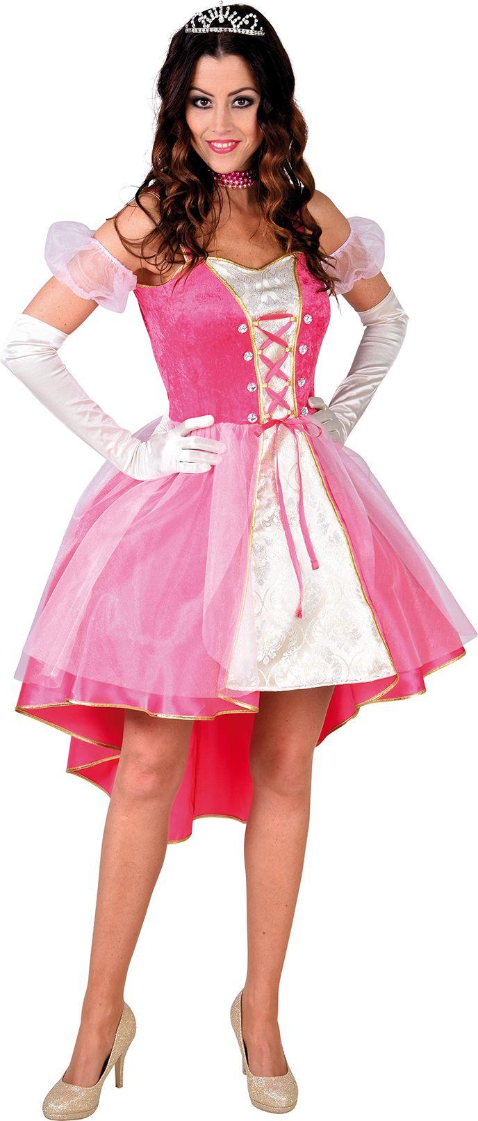 Prinses jurk dames roze
