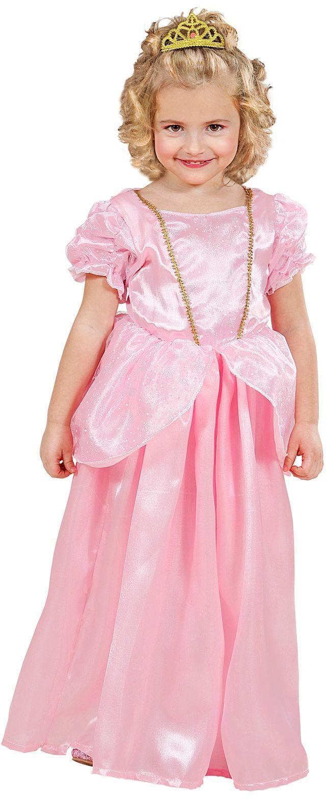 Prinses peach jurkje meisjes