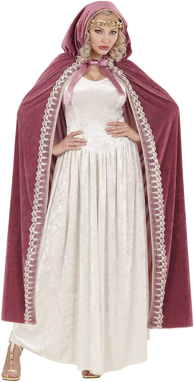 Prinsessen cape roze One-size-volwassenen