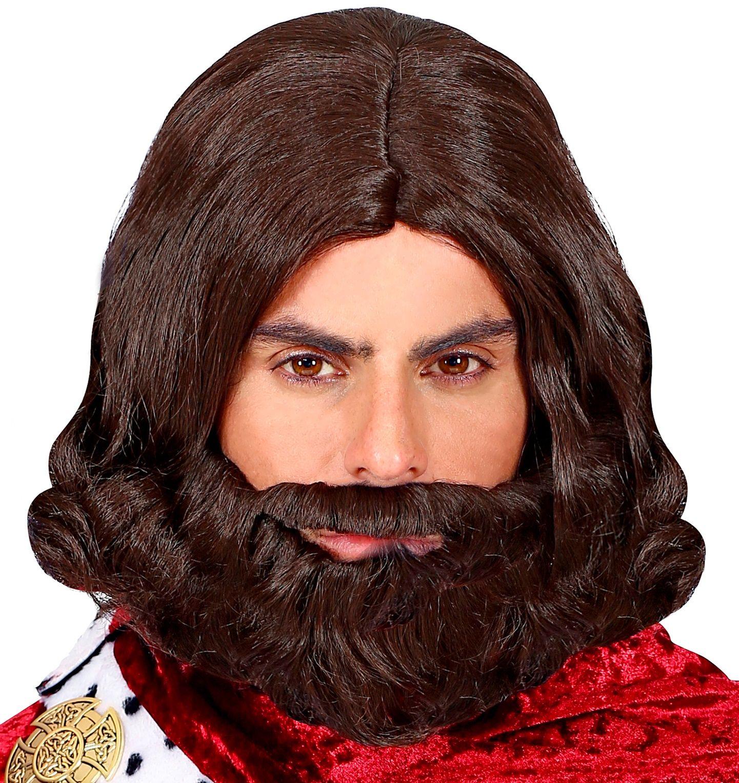 Pruik middeleeuwen met baard