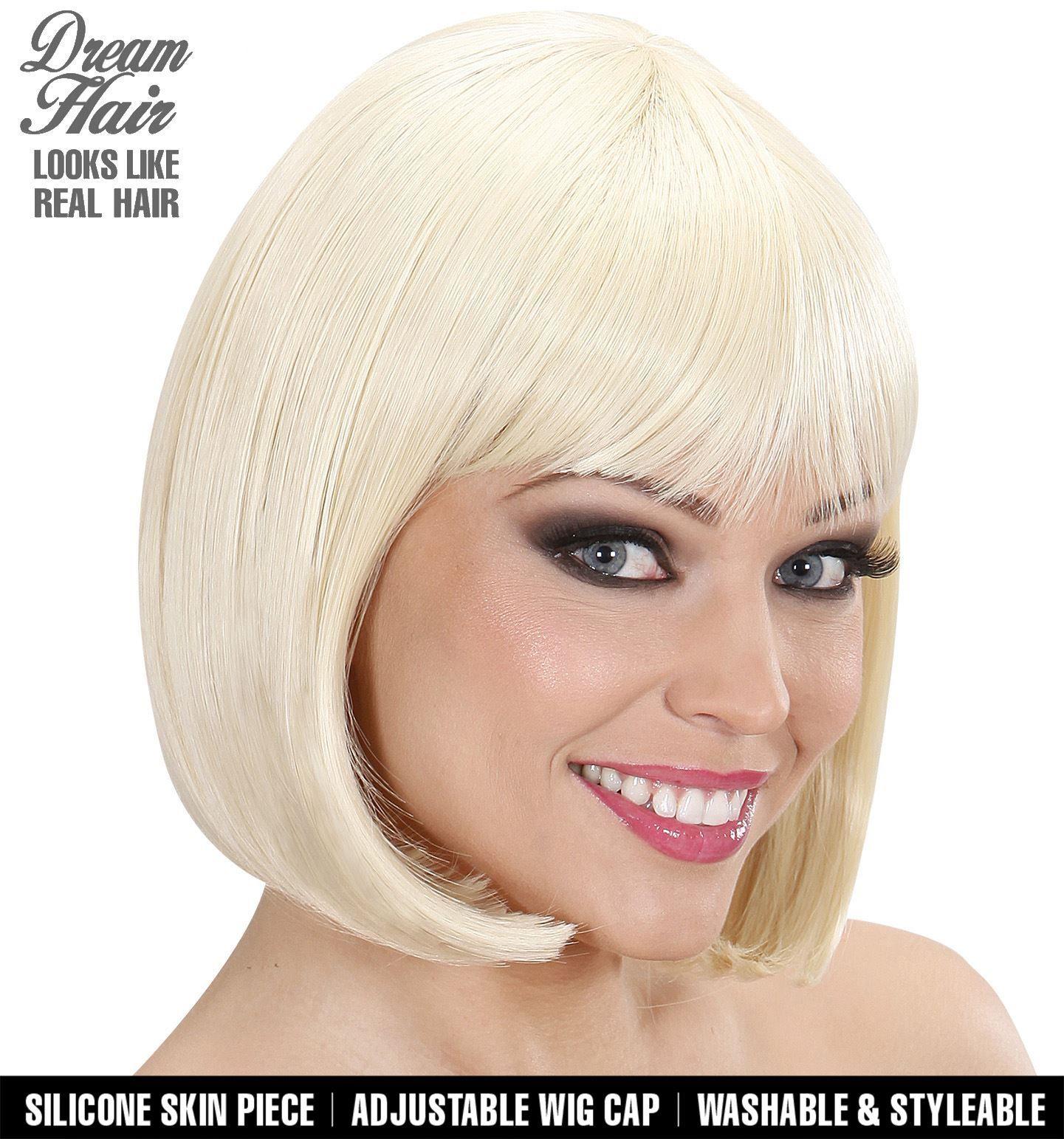 Pruiken kort haar blond