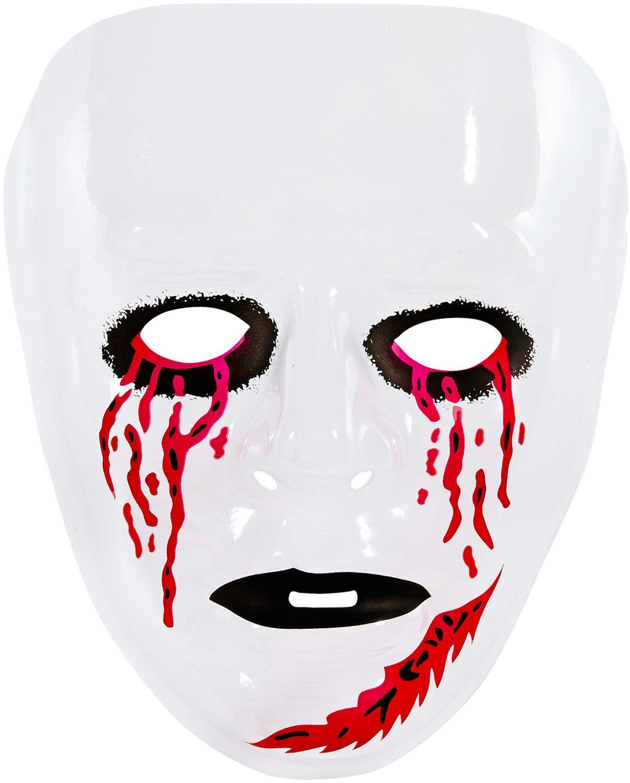 Psychopaten masker met bloedende ogen