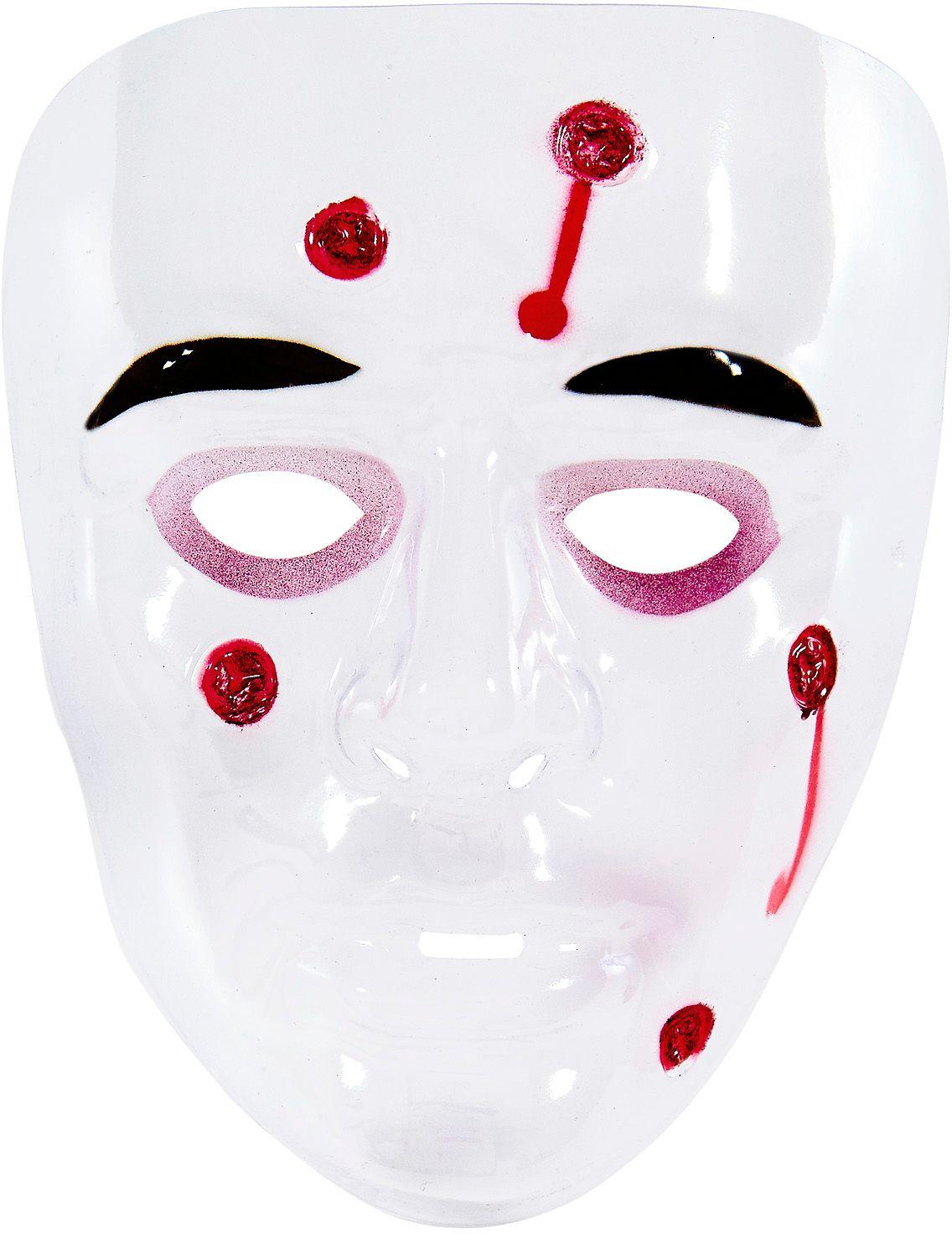 Psychopaten masker met kogelgaten