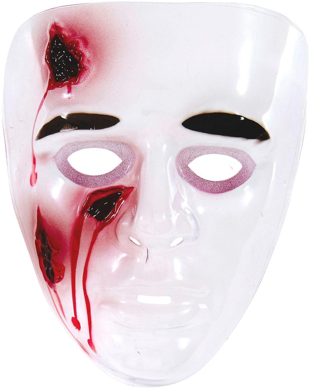 Psychopaten masker met snijwonden