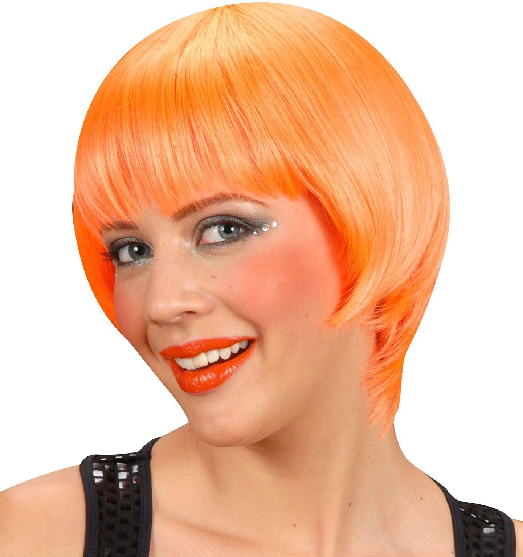 Rave pruik oranje