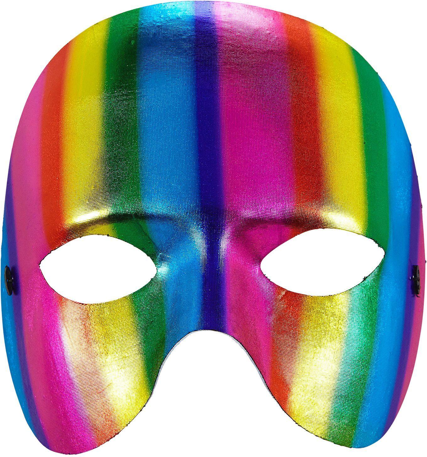 Regenboog masker uniseks