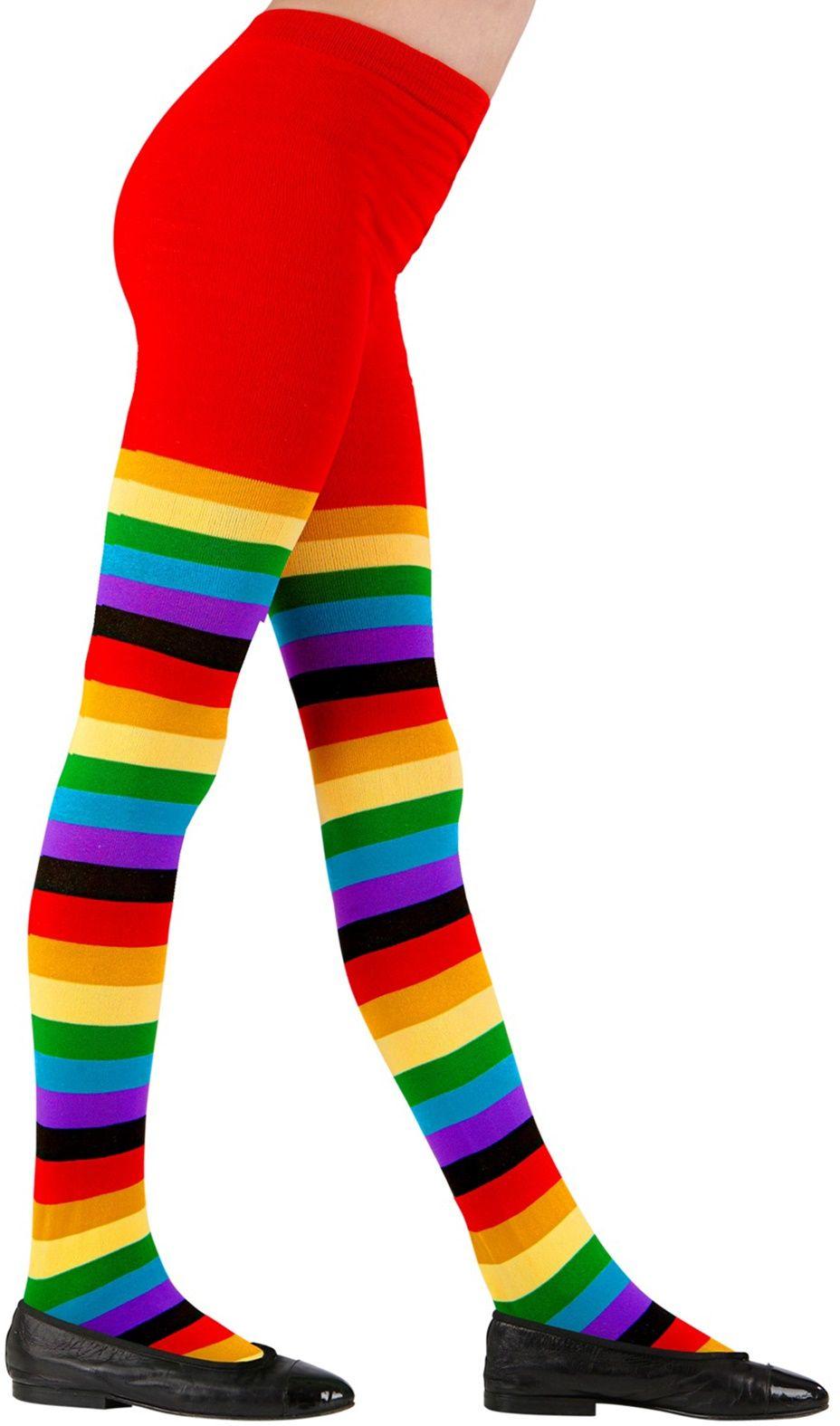Regenboog panty
