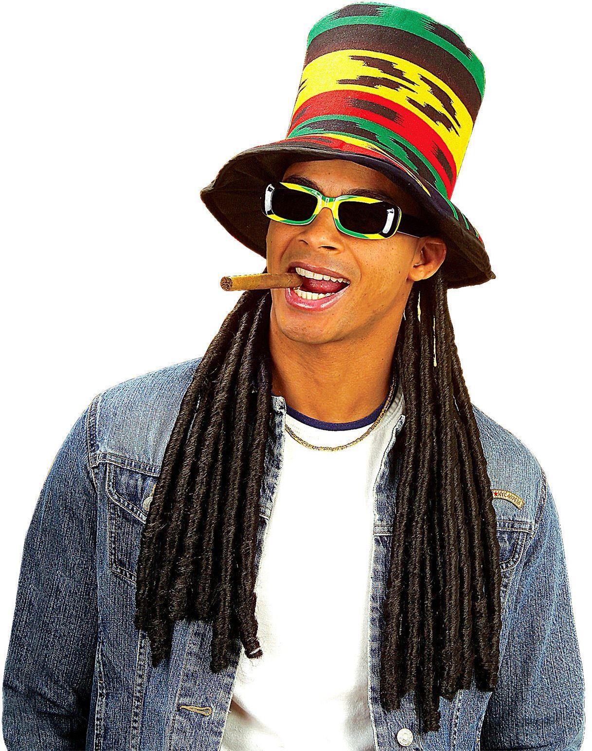 Reggae hoed met dreadlocks