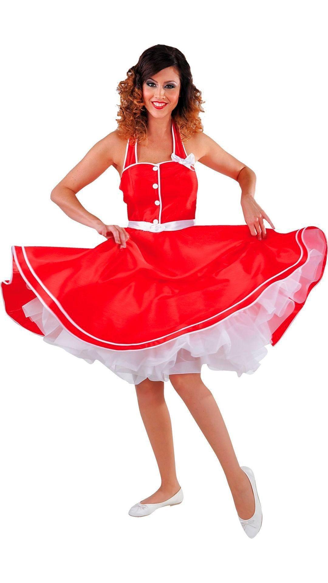 Retro jurk rood vrouwen