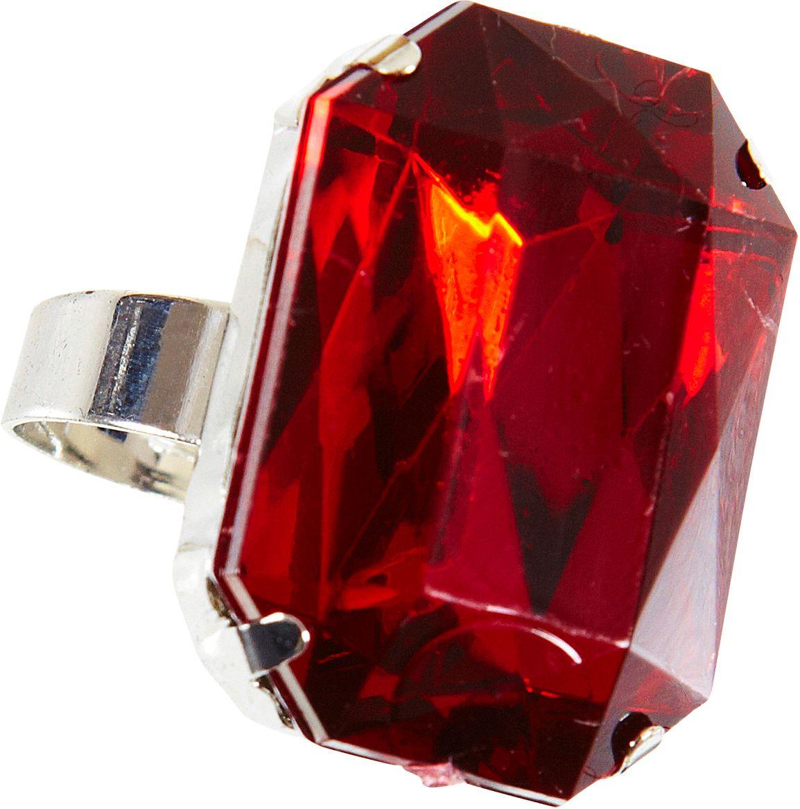 Ring met rode edelsteen
