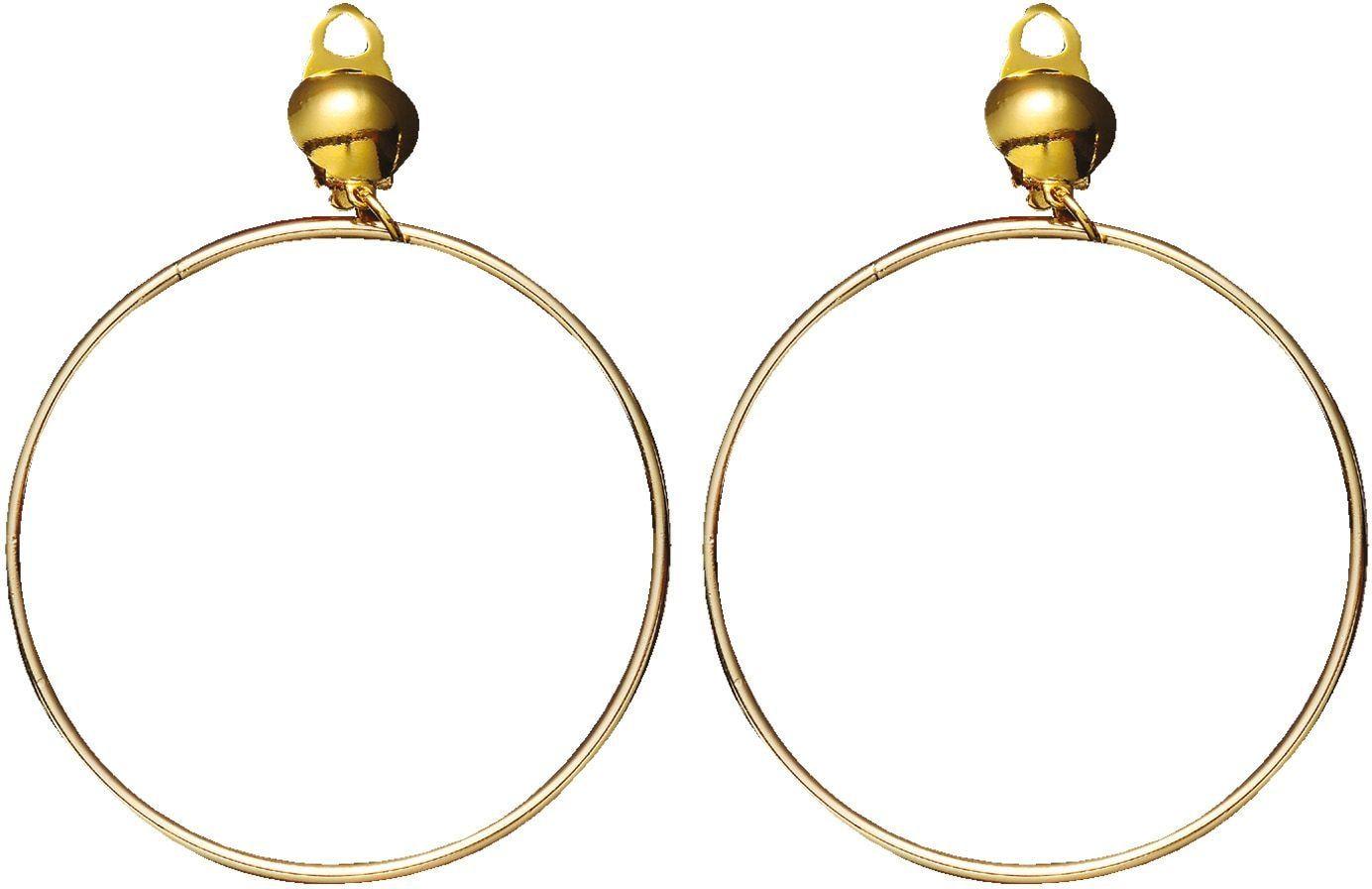 Ring oorbellen goud