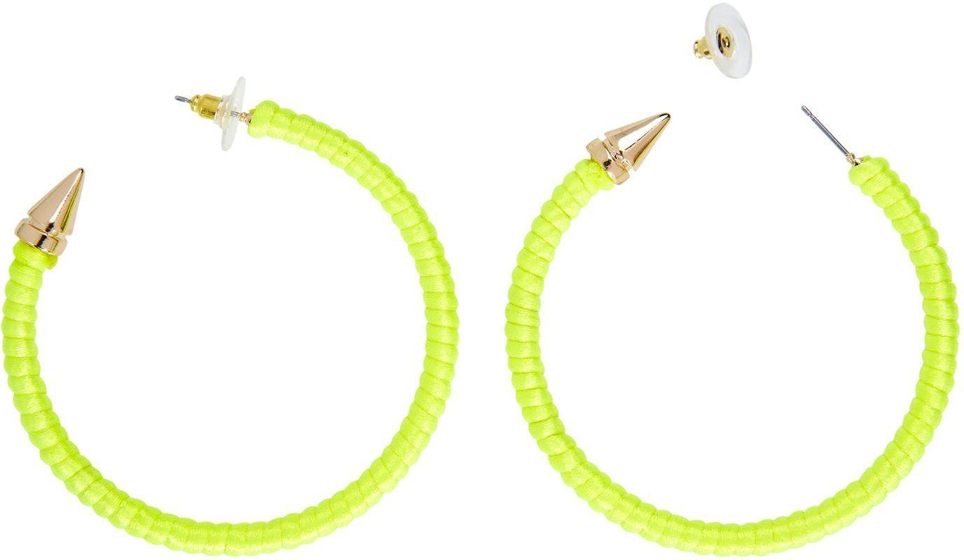 Ring oorbellen neon geel