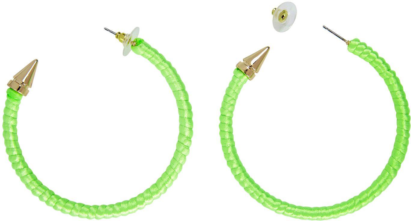 Ring oorbellen neon groen