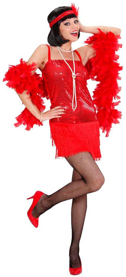 Roaring twenties jurk rood