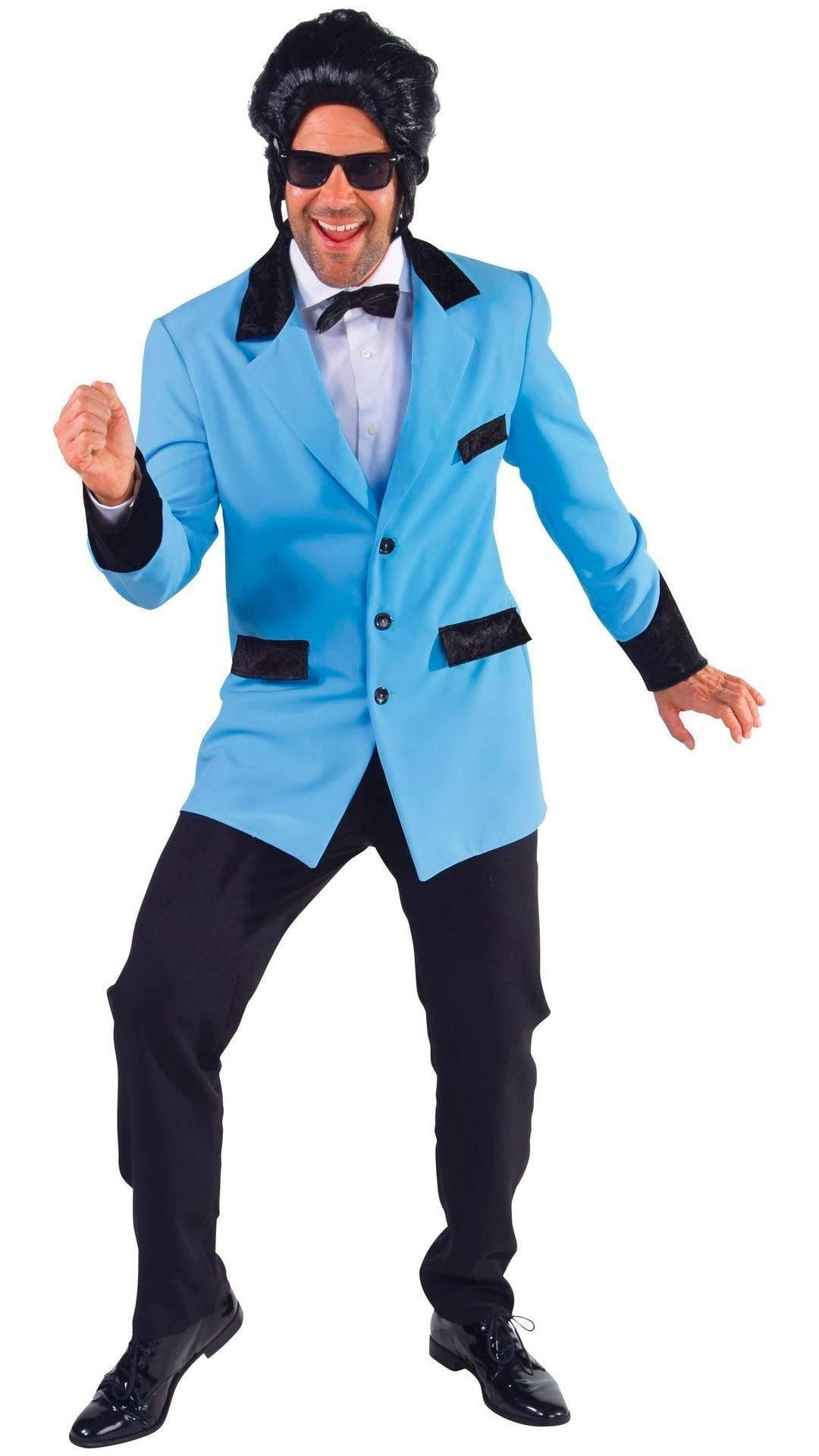 Rock en roll jas blauw mannen